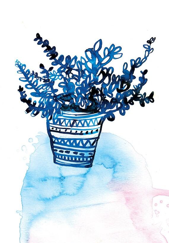 BluePot Unframed Wall Art Print Botanical