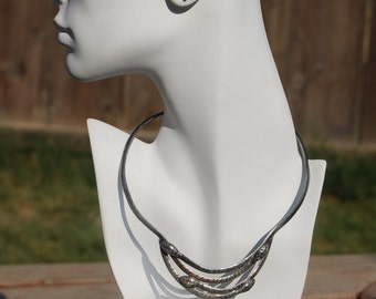 1930s Mexican Snake Necklace - Sterling Silver Serpent Stamped