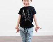 Organic Arrows Black Toddler Tee