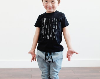 Organic Arrows Black Toddler Tee