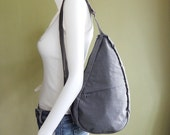 Sale - Grey Water-Resistant Nylon Bag - Cross body, Shoulder bag, Messenger bag, Tote, Travel bag, Women - SLING