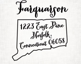 Connecticut Personalized Return Address State Stamp