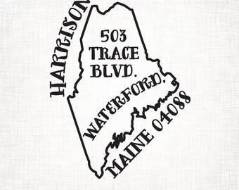 Maine Personalized Return Address State Stamp