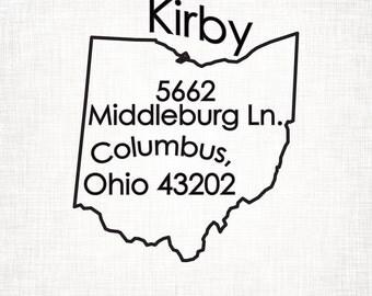 Ohio Personalized Return Address State Stamp