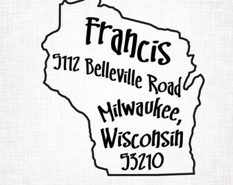 Wisconsin Personalized Return Address State Stamp
