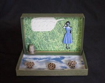 Shell Game - Original Mixed Media Assemblage - Box Art