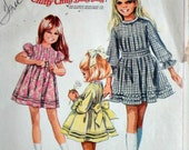 Simplicity 8111 Vintage 60's Sewing Pattern, Chitty Chitty Bang Bang Inspired, Girls' Dress, Size 6, Uncut factory Folded