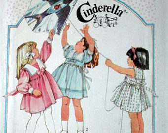 Simplicity 6770 Vintage 80's Cinderella Sewing Pattern, Girls' Dress, Sizes 5-6-6X, Uncut Factory Folded
