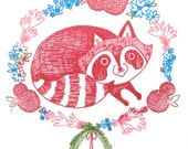 Floral Racoon