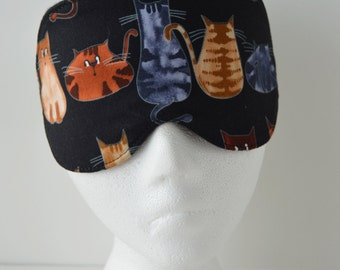 Cats Eye Mask for Travel, Sleep or Cat Naps ~ Comfy & Light Blocking ~ MADE TO ORDER