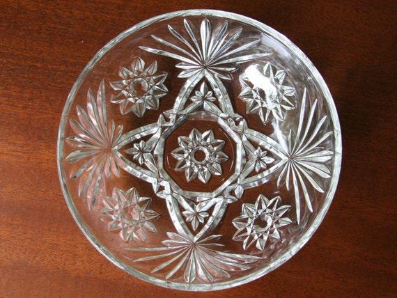 Star Of David Anchor Hocking Early American Prescut Glass