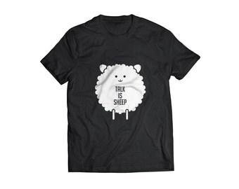 Funny tshirt Sheep talk nonsense t shirt funny Tee nonsense typography great unisex gift tee shirt funny t shirt sheep illustration tshirt