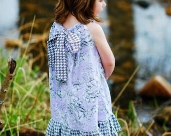 Girls pillowcase dress - girls dress - flower girl dress - beach dress - boho dress - bohemian dress - easter dress - purple  dress - Spring
