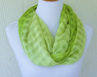 Soft Green Ombre Infinity Scarf, Women's Fashion Scarf, Circle Scarf, Loop Scarf, Tube Scarf , Women's Scarves, Eclectasie