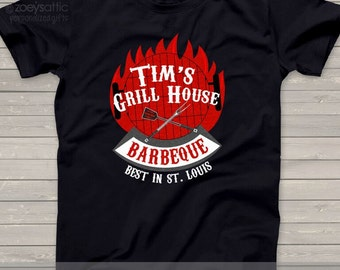 Best barbecue custom DARK Tshirt - great Father's Day or Christmas gift for dad or grandpa