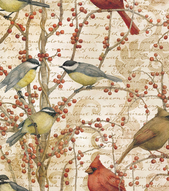 Bird Fabric For Curtains Birds Berries Fabric Shower