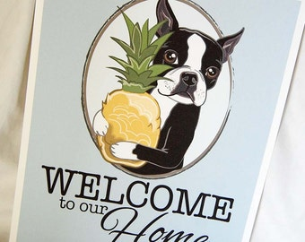 Pineapple Boston Welcome Print - 8x10 Eco-friendly Size