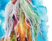 Wild horse Painting,  Pony Print, Wild Horse painting, Wild Horse,Wild Pony Painting, Horse Print, Colorful Horse Painting, wild pony