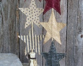 Country Americana Star Totem, Red, White, Blue, Star, Rustic,July 4th, Independence Day,Decoration, Summer, Sticks and Stems, USA, Patriotic