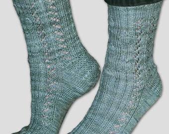 Stone Path Socks Knitting Pattern - PDF