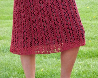 Kiskadee Skirt Knitting Pattern - PDF