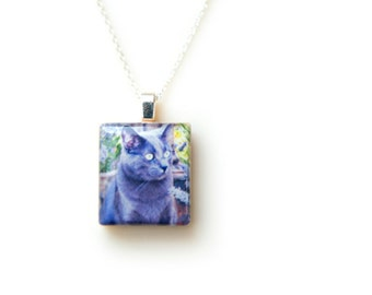Cat Memorial Jewelry - Instagram Photo Jewelry - Pet Memorial Necklace - Cat Memorial Photo Necklace - Loss of Cat Necklace - Loss of Pet