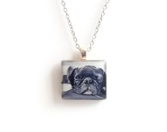 Sleeping Dog Necklace - Custom Instagram Necklace - Keepsake Memorial Jewelry - Hipstamatic - Custom Photo Jewelry - Pet Memorial Necklace