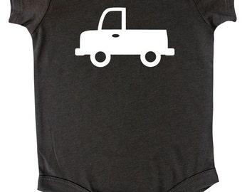 Transportation Silhouette Baby Bodysuit-Truck
