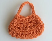 Handmade Barbie Clothes Purse Handbag Crochet Orange Light Terra Cotta
