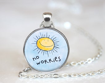No Worries Changeable Magnetic Pendant Necklace with Organza Bag