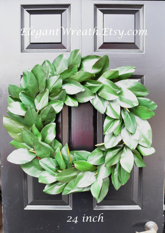 Magnolia Leaf Wreath: Magnolia Wreath Artificial Magnolia Wreath Magnolia Leaves