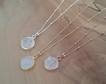 10mm rainbow moonstone necklace rose gold moonstone necklace 12mm rainbow moonstone necklace rose gold moonstone necklace silver moonstone necklace round moonstone mozeypictures Images