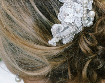 Hand-made Applique Wedding Hairpiece