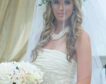 Wedding Floral Crown, Wedding Headpiece