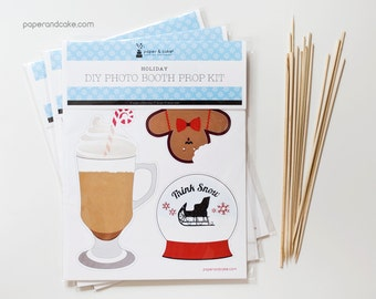SHOP the SHELF Holiday Party DIY Photo Booth Prop Kit >> shipped to you | Paper and Cake