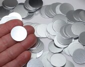 """5 Or More 7/8"""" No Hole Brushed Aluminum Stamping Blanks 22.17mm 20 Gauge Brushed Solid Anodized Aluminum Pendants Discs Lightweight (IC22)"""