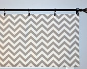 Chevron Window Valance -  Storm Grey Zig Zag  - Grey White 50x16 inches or 50x18 inches Valence