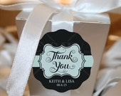 W101 Custom Thank You waterproof self adhesive labels wedding stickers personalized peel and stick
