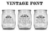 Basics Definition Flour Sugar Oats Rice Pasta Tea Coffee Kitchen Canister Labels self adhesive vinyl sticker