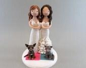 Cake Toppers - Same Sex Couple Custom Made Wedding Cake Topper