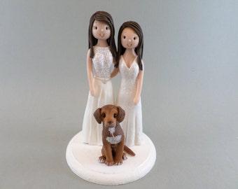 Same Sex Couple Custom Made Wedding Cake Topper
