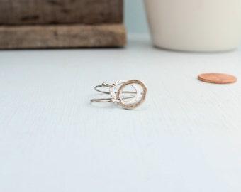 Sterling Silver Petite Artisan Hoop Earrings