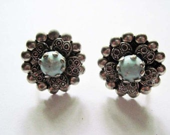Vintage  Faux Turquoise Earrings
