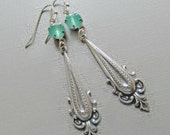Silver Earrings - Summer Earrings - Long Dangle Earrings - Art Nouveau - BEDFORD Silver