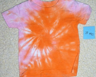Baby Tee Shirt, tie dyed