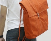 New Year SALE - 20% OFF Fitt in Orange / Backpack / Satchel / Rucksack / Laptop / Tote / Women / Men / For Him / For Her / Gift Ideas