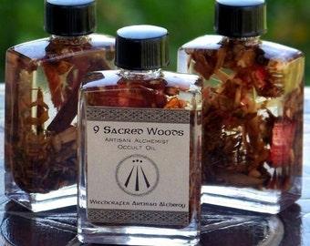 "NINE SACRED WOODS ""Old English Witchcraft""™ Celtic Druid Anglo-Saxon ""Artisan Alchemist""™ Specialty Oil w/ Oak Ash Thorn Rowan Birch Apple +"