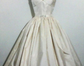 Belle - Strapless Silk Ball Gown with Rhinestone Accent