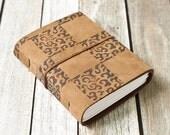 Block Print Leather Journal