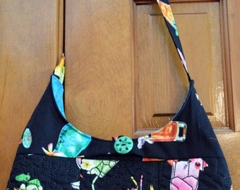 Tropical Drink Hobo Bag